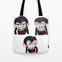dangan ronpa Tote Bags featuring Fukawa by dartty