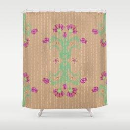Kantha bouquet 8 Shower Curtain