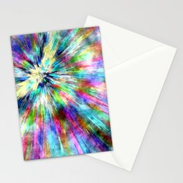 Colorful Tie Dye Watercolor Stationery Cards