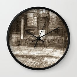 Pub Resting Place Art Vintage Wall Clock