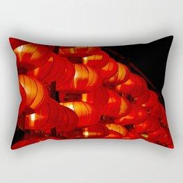 Vibrant red Chinese lanterns Rectangular Pillow