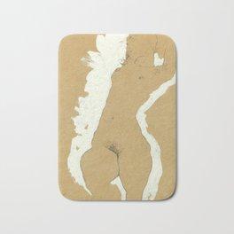 "Egon Schiele ""Female Nude with White Border"" Bath Mat"