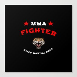 MMA Fighter Tiger Canvas Print