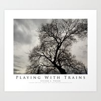 Playing With Trains Art Print