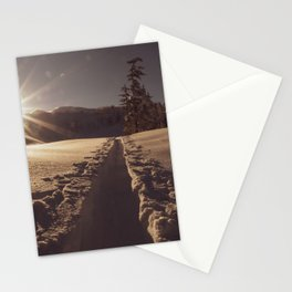Sunrise Backcountry Ski // Skin Track to Snowy Paradise Stationery Cards