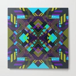Techno Aztec IV Metal Print