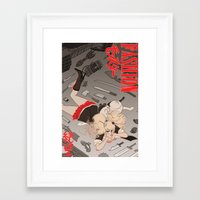 dangan ronpa Framed Art Prints featuring fashion monster by Cori Walters