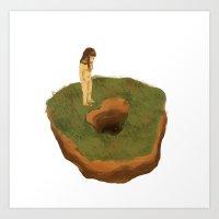 Earth Donut Art Print
