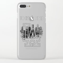 To Live & Die In L.A. Clear iPhone Case