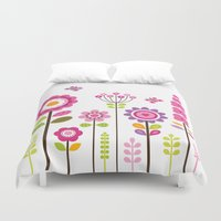 mod Duvet Covers featuring MOD GARDEN by Daisy Beatrice