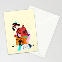 Girl in House Stationery Cards