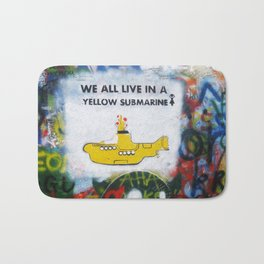 Yellow Submarine Graffiti Bath Mat