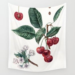 Cherry Botanical Art Wall Tapestry