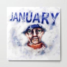 January Metal Print