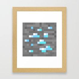 Diamond Ore Framed Art Print