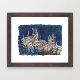Hogwarts Painting  Framed Art Print