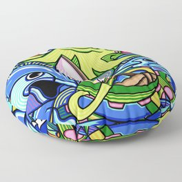 Out to Sea Floor Pillow