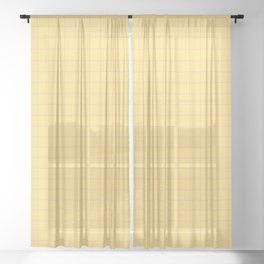 Yellow with Pink Lines Sheer Curtain