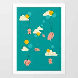 Pigs Fly Art Print