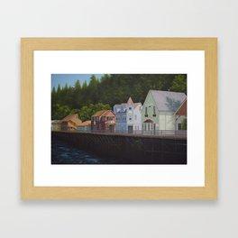 Ketchikan's Creek Street Framed Art Print
