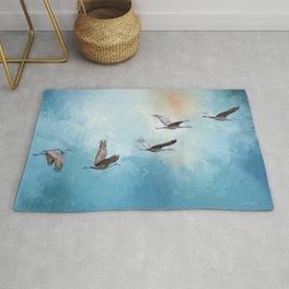 Magic Of Beginnings - Bird Art Rug