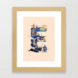 Wanderlust Alphabet – E is for Edinburgh Framed Art Print