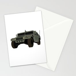 American Army Military Truck Stationery Cards