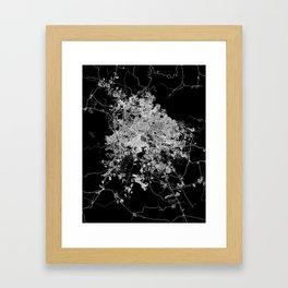 Guadalajara map Framed Art Print