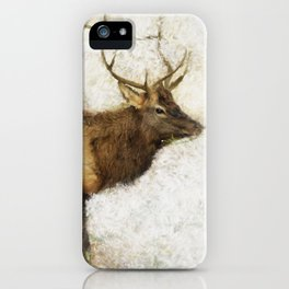 Grand Canyon Elk No. 1 Wintered iPhone Case