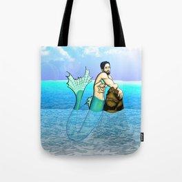 Melancholy Merman Tote Bag