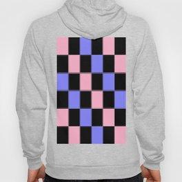 Pink Blue Black CHeckERboarD Hoody