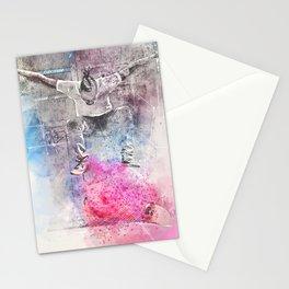 Skateboard Kickflip Painting Stationery Cards