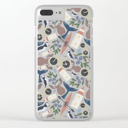 Acadia Pattern 1 Clear iPhone Case
