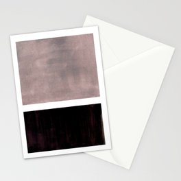 Mid Century Modern Minimalist Art Colorblock Rothko Inspired Squares Grey and Black Simple Abstract Stationery Cards