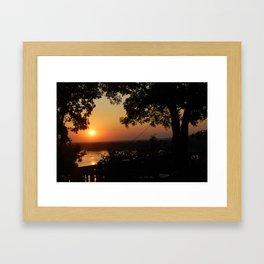 Over the Mississippi Framed Art Print