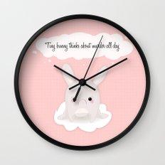tiny bunny Wall Clock