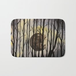The Forest at Night Bath Mat