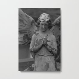 Cemetery Angel Statue Metal Print
