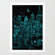 London! Night Art Print