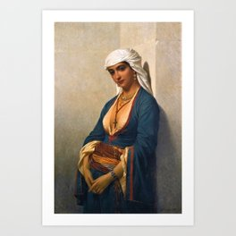 Classical Masterpiece La fidèle by Emile Charles Hippolyte Art Print