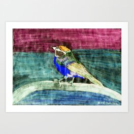 Bunter Vogel Art Print