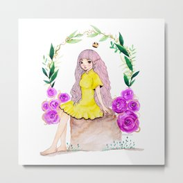 Little Fairy Princess Metal Print