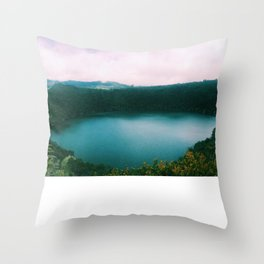 The Lake of the Living Spirals Throw Pillow
