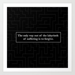 Labyrinth Quote - Looking for Alaska Art Print