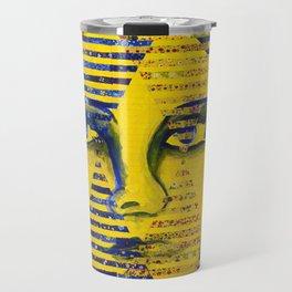 Conundrum II - Abstract Golden Goddess Travel Mug