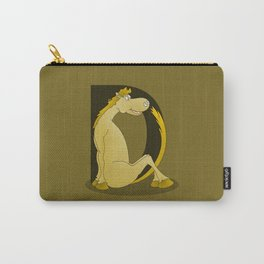 Pony Monogram Letter D Carry-All Pouch
