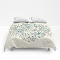 Denim flower circle Comforters