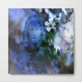 Jesus Christ In The Garden By Annie Zeno Metal Print
