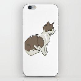 Vigilant Kitty iPhone Skin