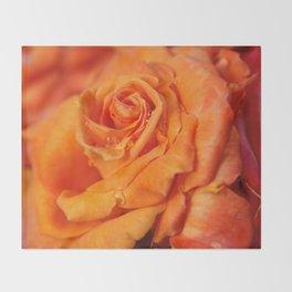 Tangerine Rose Throw Blanket
